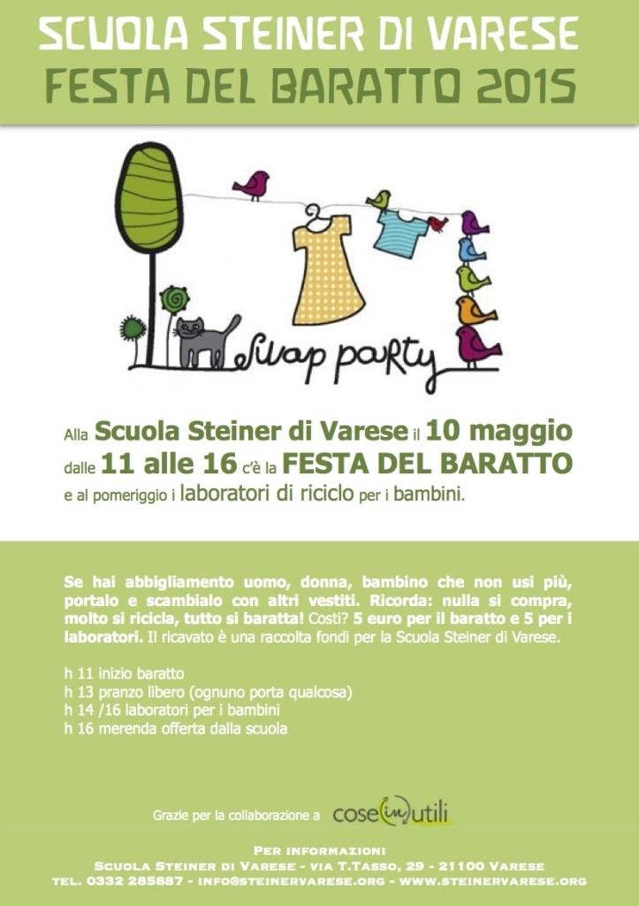Festa del baratto Scuola Steiner Varese