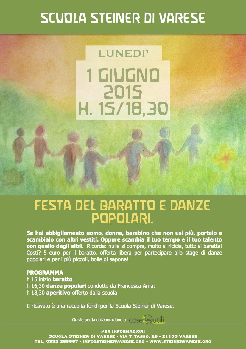 Festa del Baratto e danze popolari Scuola Steiner di Varese